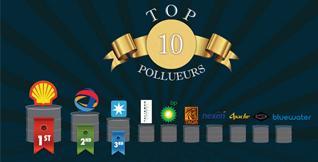 Top 10 des pollueurs des mers - Shell décroche la première place !