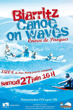 Biarritz Canoe on Waves