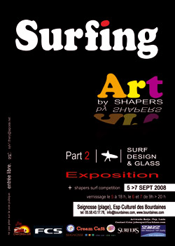 Surfing art by shapers
