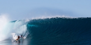 Bottom Turn - Cloudbreak - Volcom Pro Fidji