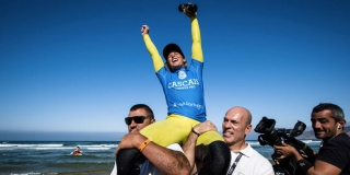Courtney Conlogue heureuse - Cascais Women's Pro - Guincho
