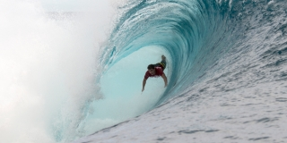 Koa Rothman - Air Tahiti Nui Billabong Pro Trials 2014 - Teahupoo