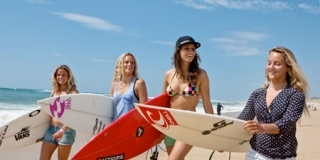 Miss France avec les rideuses Françaises - Swatch Girls Pro France 2011