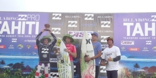 Podium - Air Tahiti Nui Billabong Trials 2013