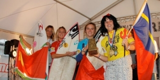 Podium Open Fille - Championnats de France de Surf 2011
