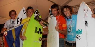 Podium Open Homme - Championnats de France de Surf 2011