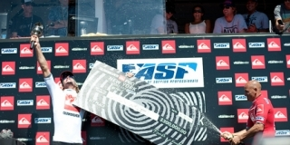 Le podium du Quiksilver Pro New York 2011