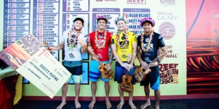 Le podium - Reef Hawaiian Pro 2014 - Haleiwa, Hawaii