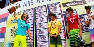 Podium - Van's World Cup - Sunset Beach, North Shore, Hawaii