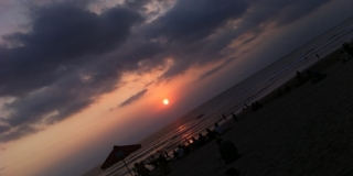 Sunset Kuta beach, Bali