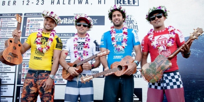 Le podium - Reef Hawaiian Pro 2013 - Haleiwa, Hawaii