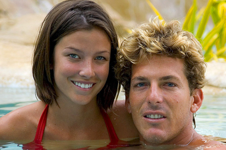 Andy Irons avec sa femme Lyndie