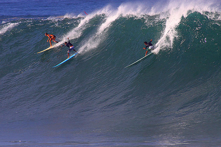 Big Wave Riding - Session Waimea Bay - North Shore d'Oahu'