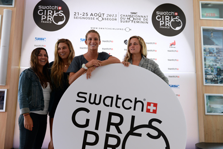 Conférence de Presse du Swatch Girls Pro France 2013'