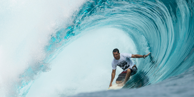 Manoa Drollet - Air Tahiti Nui Billabong Pro Trials 2014 - Teahupoo'