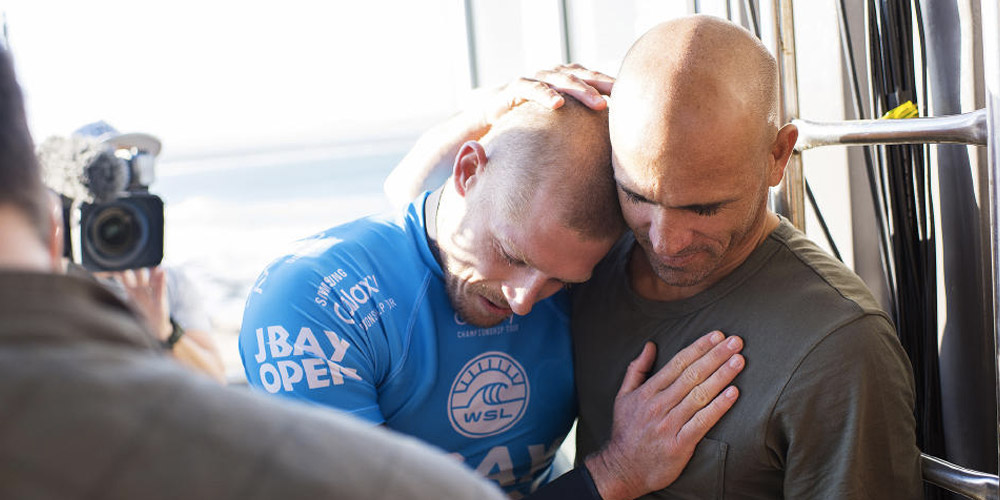 Mick Fanning et Kelly Slater - J-Bay Open 2015