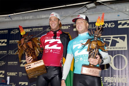 Le podium du Billabong Pro Jeffreys Bay 2011