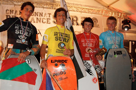 Podium Championnats de France de Surf 2011