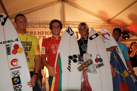 Podium Championnats de France de Surf 2011'