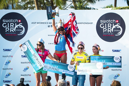 Podium - Swatch Girls Pro China 2012 - Wanning