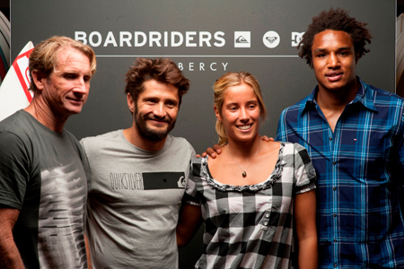 Robby Naish, Bixente Lizarazu, Lee-Ann Curren, Benjamin Fall - Inauguration Boardriders de Bercy village'