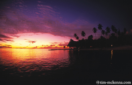 Sunset, Tahiti