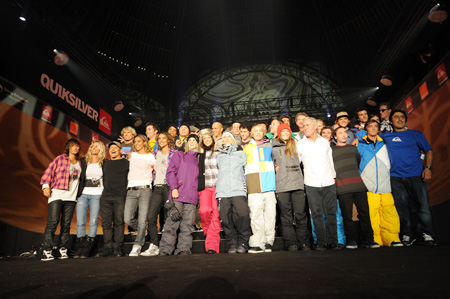Tony Hawk show 2009 : La team Quiksilver