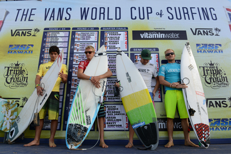 Podium - Vans World Cup of Surfing 2012'
