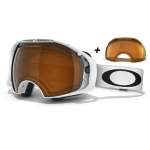 Masque ski snow homme Airbrake Polished White Ecran Persimmon Offert