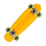 Skateboard pack complet plastique Bantam Clear Orange Orange/yellow