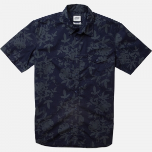 chemise homme hibiscus - marine -